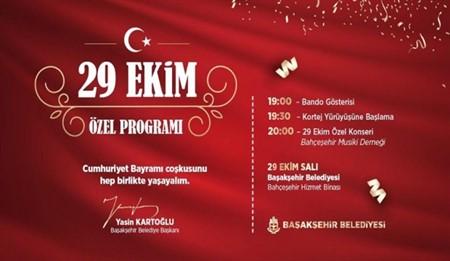 Başakşehir 29 Ekim Cumhuriyet Bayramı Özel Programı
