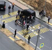 Yaya Geçidinde Trafik Kazası