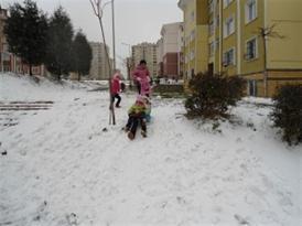 Kışın keyfini Bayındırlık Sitesi Çıkardı