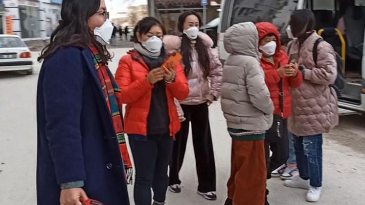Aksaray'da korona virüsü şüphesiyle Çinli turistler karantina altına alındı