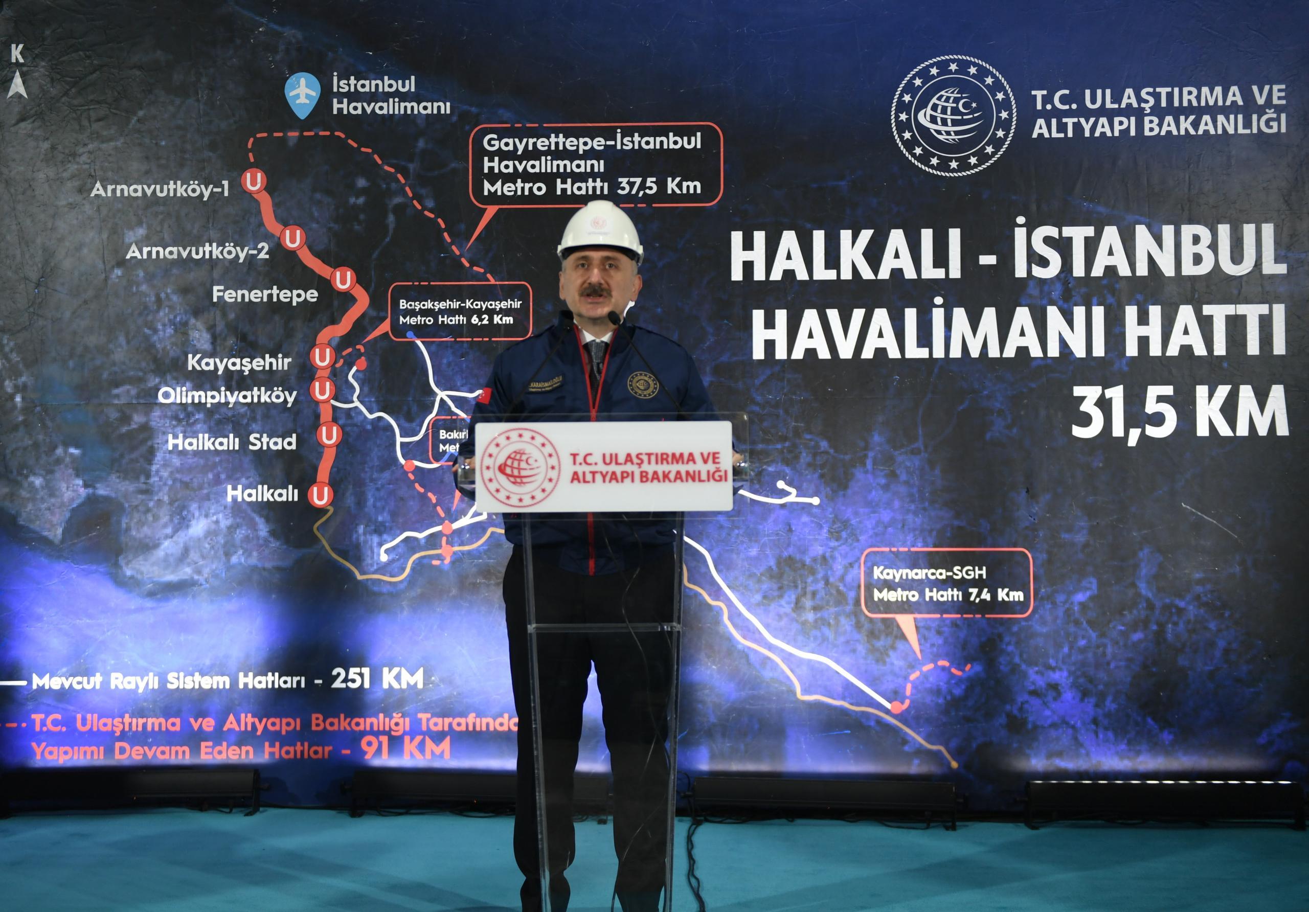 Halkalı-İstanbul Havalimanı Metro Hattı'nda kazıya başlandı