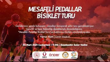 """Öncü Gençlik Spor """" Mesafeli Pedaller Bisiklet Turu """" için start verdi"""