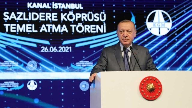 Cumhurbaşkanı Erdoğan'dan Kanal İstanbul mesajı: Kime sorulması gerekiyorsa sorduk