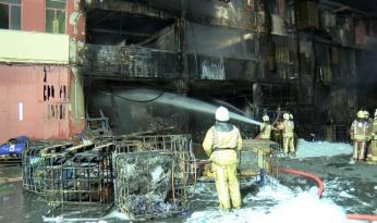İkitelli Çevre Sanayi Sitesi'nde yangın çıktı